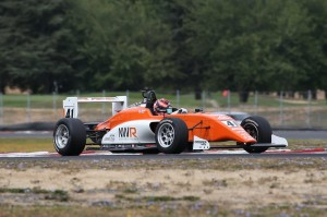 In the Newman Wachs USF2000 Tatuus at Portland.