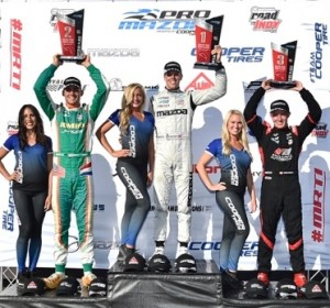 Top step of the podium in Portland.