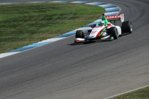 I was quickly up to speed in the Indy Lights car