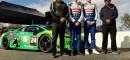 Chris Ward, Senior Manager, Motorsport, Automobili Lamborghini America LLC; Josh Green; Scott Huffaker; Shane Seneviratne, Team Principal, US RaceTronics.