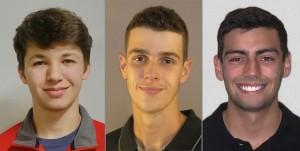 Left to right: Bryce Aron, Jackson Lee, Simon Sikes.