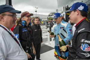 It's always nice to share some champagne after a race - with Dr. Mike (left) and team manager John Bobbit (Chris Green  Photography).