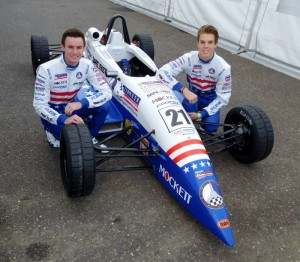 Kirkwood (left) and Askew at Brands Hatch in 2016.