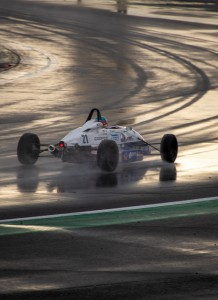 """Conditions at Silverstone for testing have been """"typically British"""" (Jordan Aron photo)."""