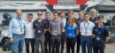 This year's group of Team USA candidates, along with the RRDC's John Fergus (left) and Jeremy Shaw (second from right)