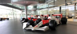 A long line of winning McLaren F1 cars.