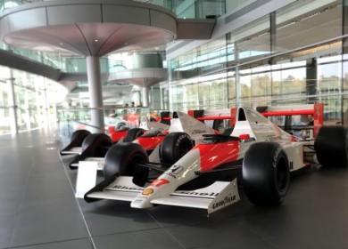 A long line of winning McLaren F1 cars.