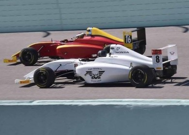 Moving up through the field at Homestead-Miami