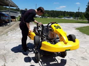 This shifter kart is a great way to keep in shape!