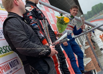 My first podium in the UK felt great (Gary Hawkins photo).