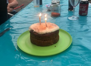 Carrot cake for my birthday - thanks, guys.