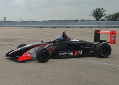 Testing a USF2000 car for Afterburner Autosport.