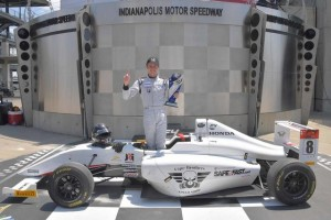 In Victory Lane at Indianapolis. Very cool!
