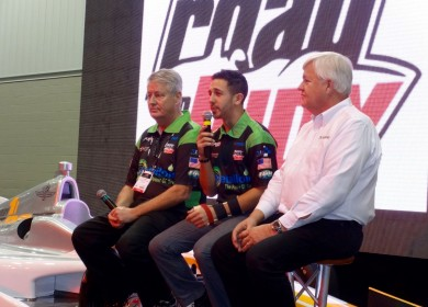 On-stage at PRI with Fred Edwards and Dan Andersen.