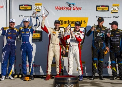With Mark Pombo in Victory Lane at Watkins Glen.