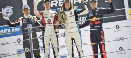 Finishing as top rookie meant I was up on the podium. Cool!